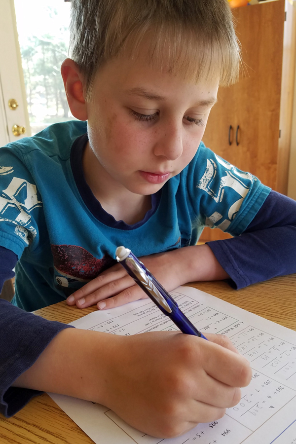 Elementary math curriculum for grades 1-7