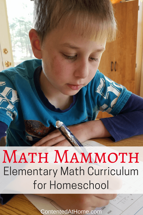 Elementary math curriculum for homeschool