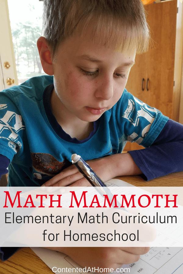 Elementary math curriculum for homeschool