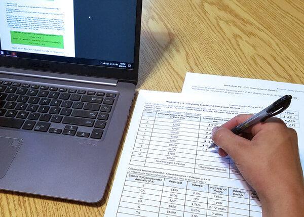 Financial literacy curriculum