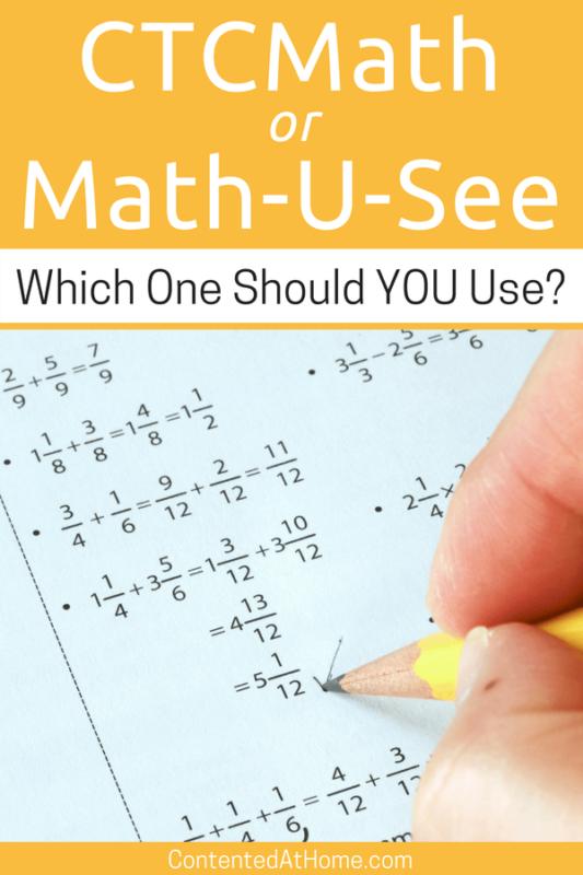 Homeschool Math Curriculum Ctcmath Vs Math U See Contented At Home