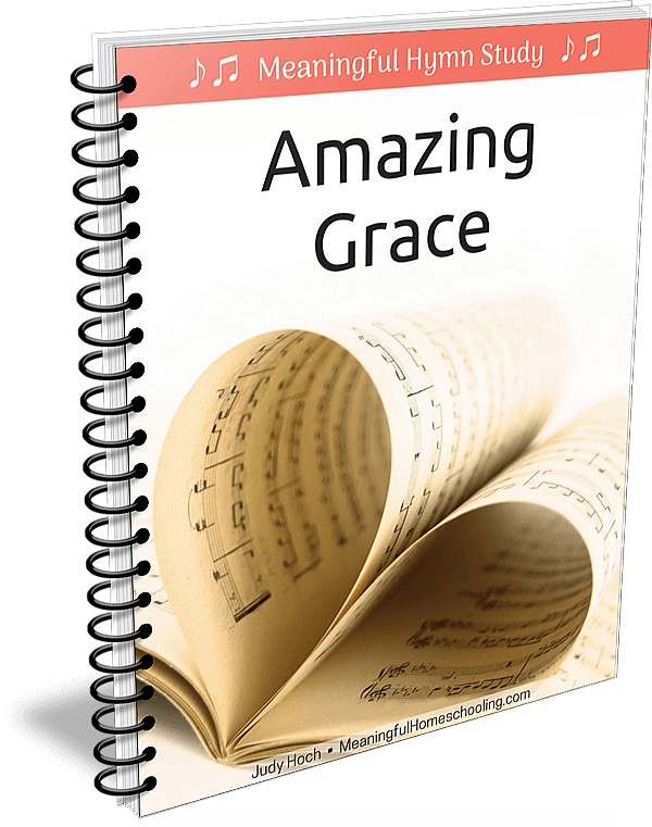 """Spiral bound book with music pages on cover and title """"Amazing Grace"""""""
