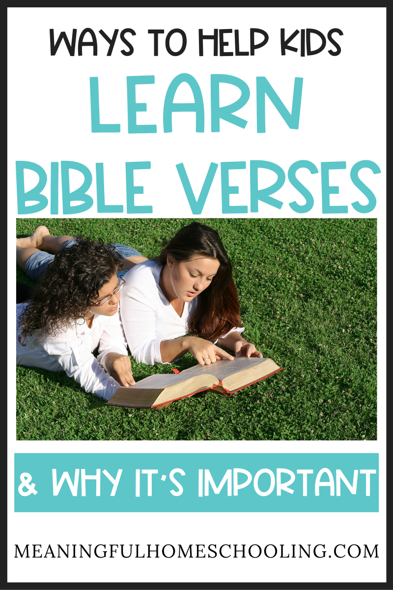 Ways to help kids learn bible verses.