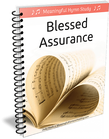 """Spiral-bound book with title """"Blessed Assurance"""""""
